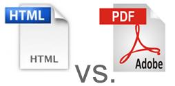 HTML or PDF restaurant menus