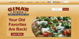 Gina's Pizza of Orange County Launches New Website